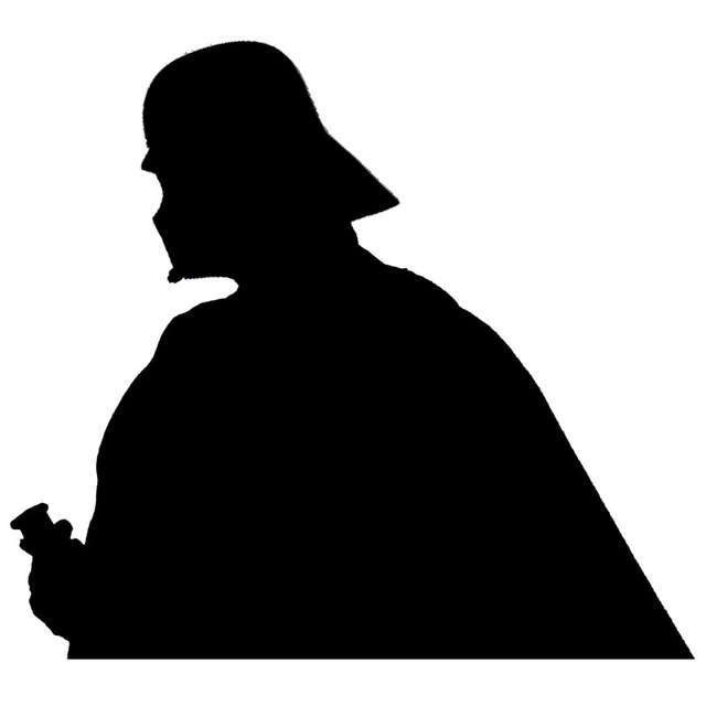 640x640 15cm13.5cm Star Wars Darth Vader Cartoon Vinyl Car Styling Car