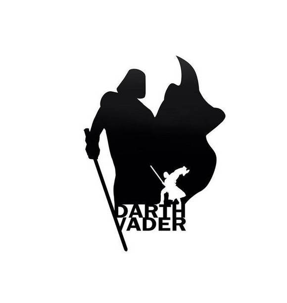 580x612 Darth Vader Silhouette Vinyl Decal Sticker Tacustomgraphix
