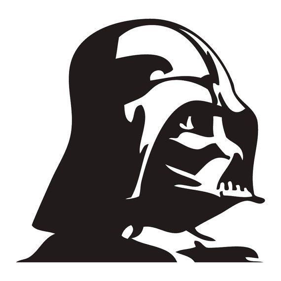 570x570 Darth Vader Sticker Autocollant Mural Kirigami
