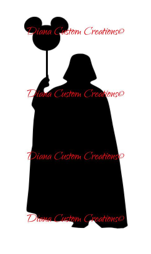 486x818 Darth Vader Holding Mickey Ballon Cricut Silhouette