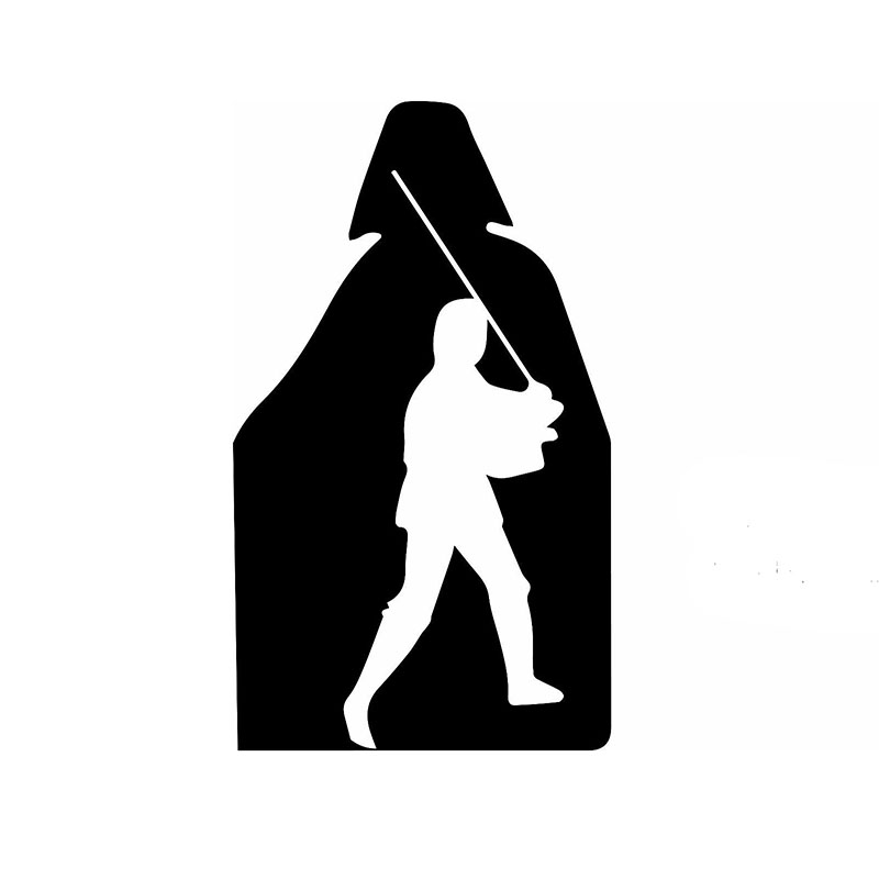 800x800 2018 15cm X 10cm Luke Skywalker And Darth Vader Funny Vinyl Decal