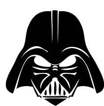 213x218 Darth Vader Head Silhouette Darth Vader Stencil Projects