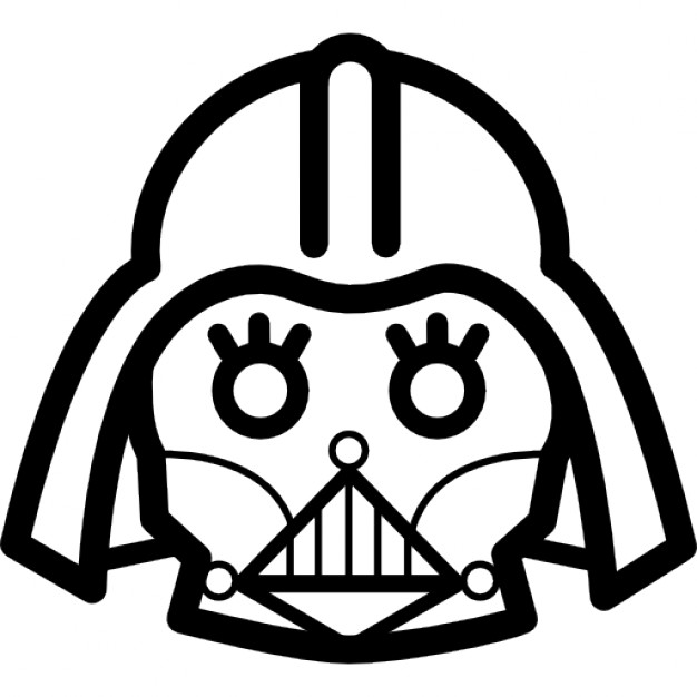 626x626 Darth Vader Frontal Head Outline Icons Free Download