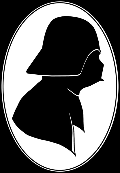 416x600 Vader Profile Silhouette