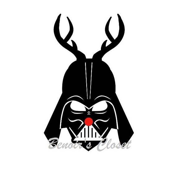 570x570 Darth Vader Reindeer Svg File, Vector, Cricut, Silhouette