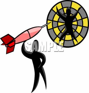 285x300 Image Silhouette Of A Man Throwing A Dart Onto A Man On A Dart Board