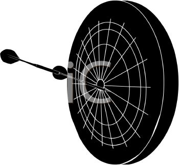 350x324 Picture Of A Silhouette Of A Dartboard With Darts
