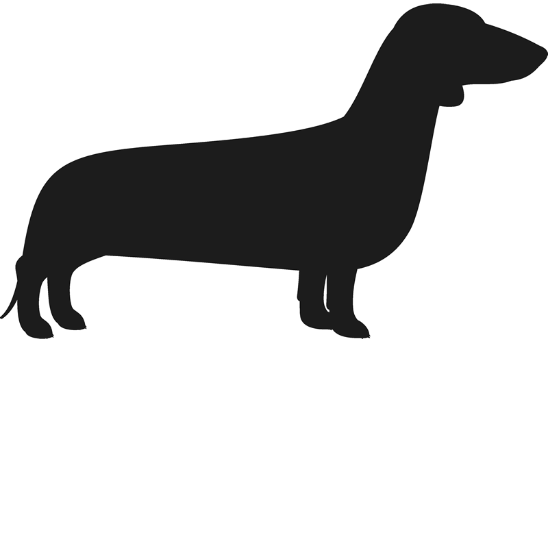800x800 Dachshund Stamp (Silhouette) Dog, Cat Amp Fur Baby Stamps Stamptopia
