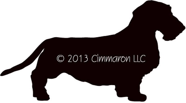 600x334 Dachshund Wired Haired Silhouette Canvas Tote