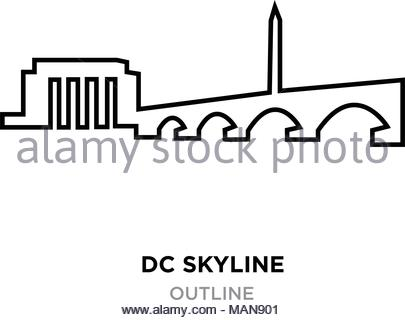 405x320 Outline Washington Dc City Skyline With Copy Space. Business