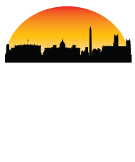 190x228 Sunset Skyline Silhouette Of Washington Dc By Awesome Shirts