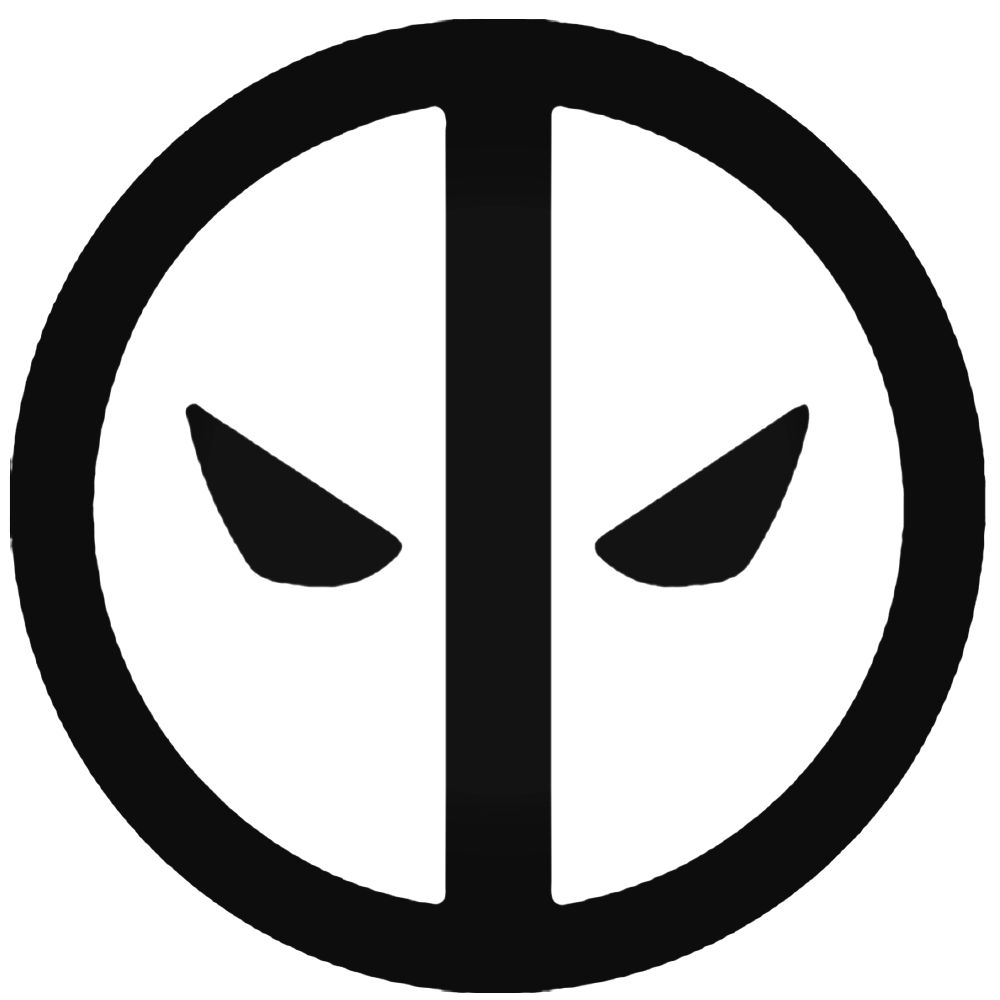 1000x1000 Deadpool Logo Silhouette Decal