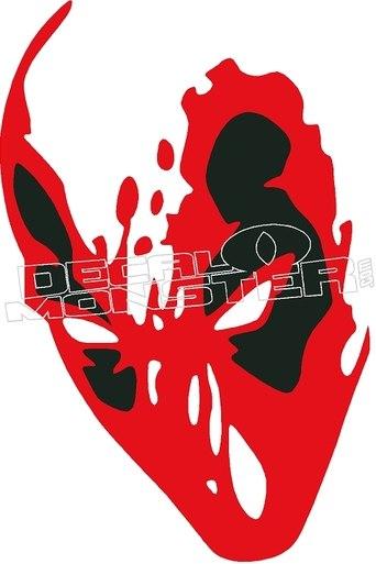342x513 Deadpool Silhouette 1 Decal Sticker