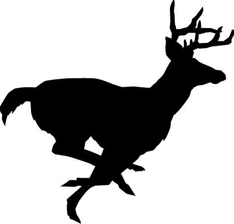 475x455 Deer Running Clipart