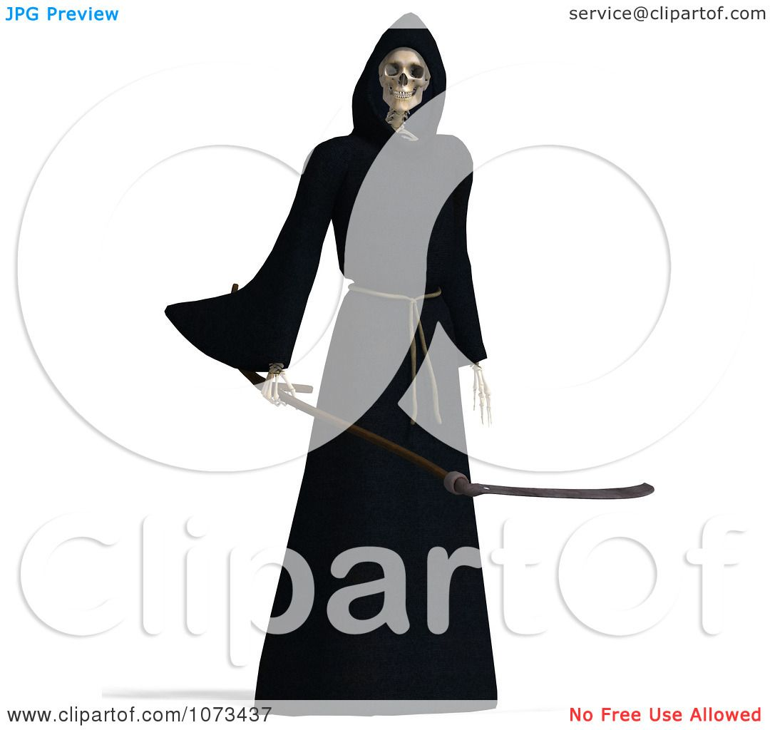 1080x1024 Clipart 3d Grim Reaper Of Death Holding A Scythe 2