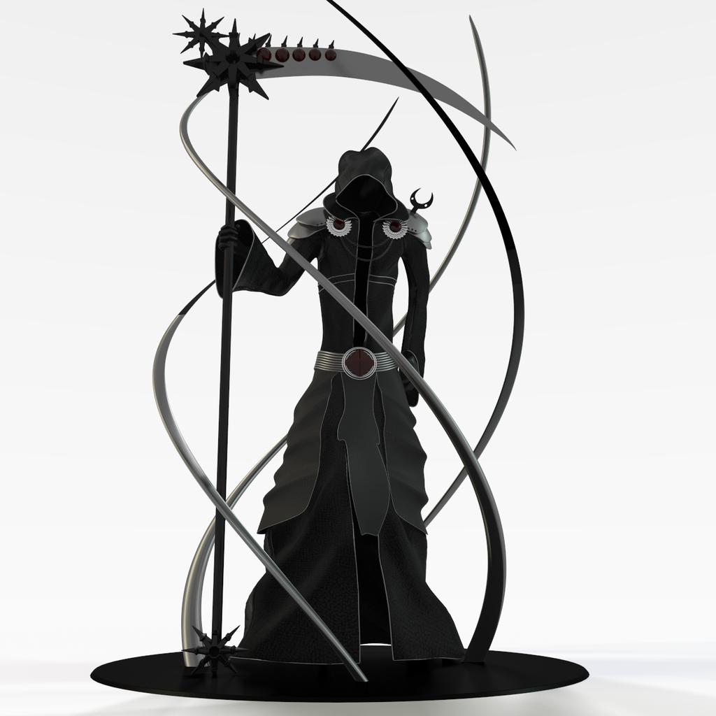 1024x1024 Grim Reaper Silhouette Clipart