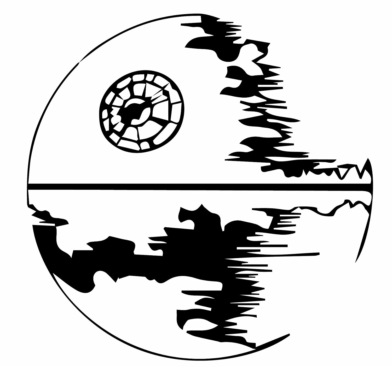1500x1406 Death Star Star Wars Emperor Vinyl Wall Decal 22 X 22 Amazon