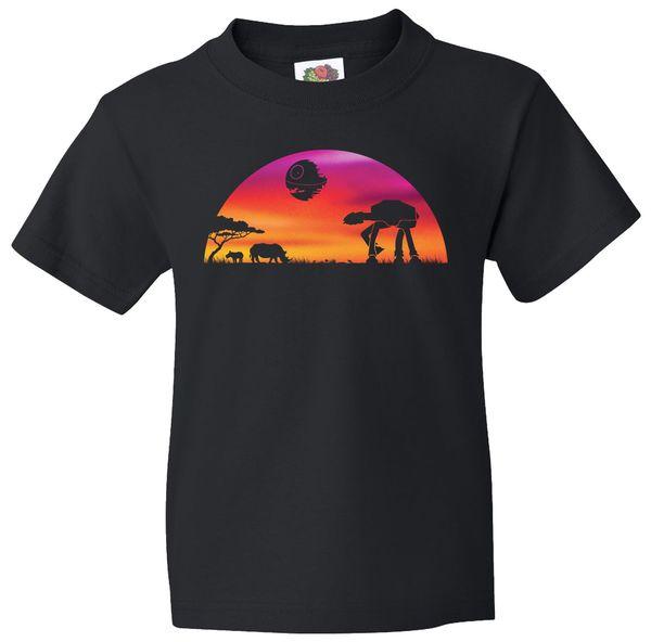 600x592 At At Death Star Sunrise Silhouette Kids T Shirt Teeshirtpalace