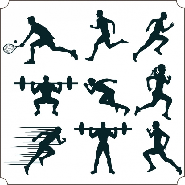 600x600 Fitness Infographics Athlete Icon Organs Silhouette Decoration