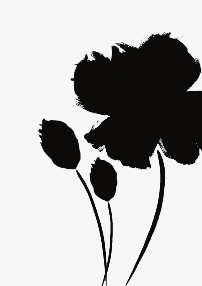 650x920 Black Silhouette Flowers Decoration, Flowers, Black, Sketch Png