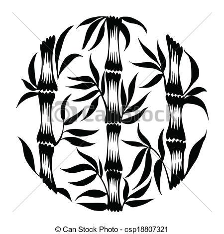 450x470 Decorative Silhouette Bamboo. Vector, Artistic, Decorative