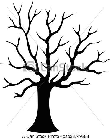 376x470 Decorative Tree Silhouette