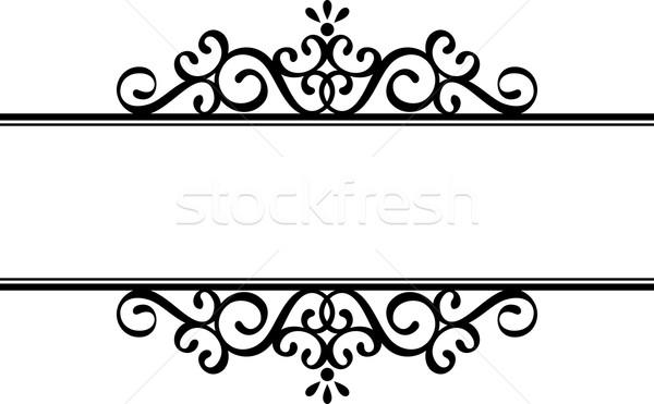 600x371 Decorative Vignette Silhouette Vector Illustration Sergio