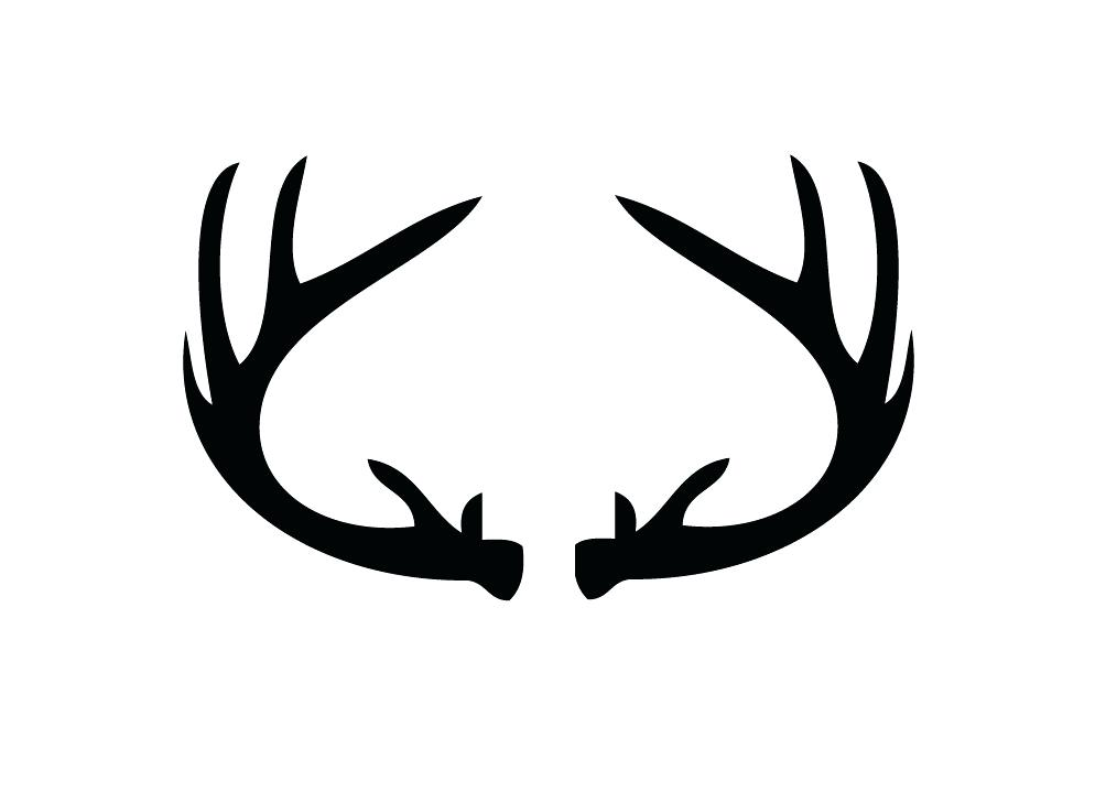 994x719 Deer Antler Silhouette Whitetail Deer Antlers Silhouette