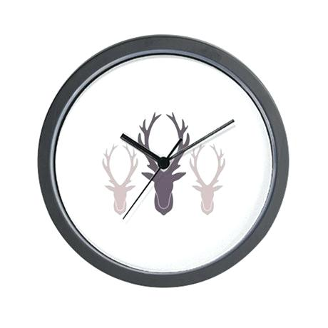 460x460 Deer Wall Clock Deer Antler Clocks Deer Antler Wall Clocks Large