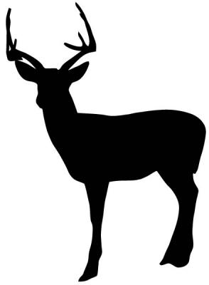 294x400 Deer Head Silhouette Clipart
