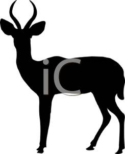 245x300 Silhouette Of A Standing Buck
