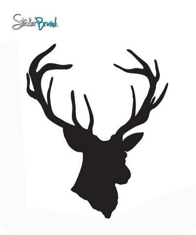 401x480 Vinyl Wall Decal Sticker Hanging Deer Head Silhoutte