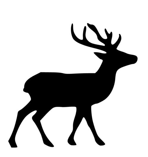 498x529 Buck Silhouette Mascot Decal Visions On Vinyl