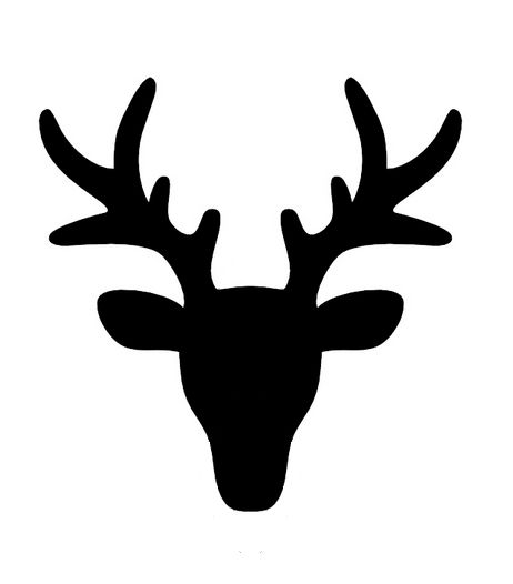 Deer Face Silhouette