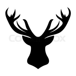 320x320 Deer Cartoon Sticker Face. Red Deer Mammal With Antler Happy Face