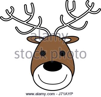 331x320 Face Of Happy Deer Icon Image Vector Illustration Design Stock