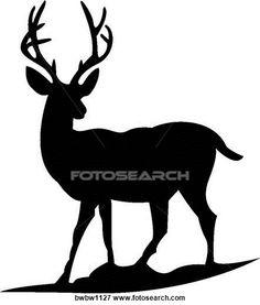 236x277 Deer Scene Clipart