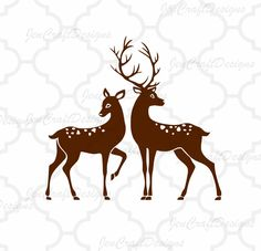 236x227 Deer Family Svg Cut Files Svg, Png, Dxf And Eps Cricut Design