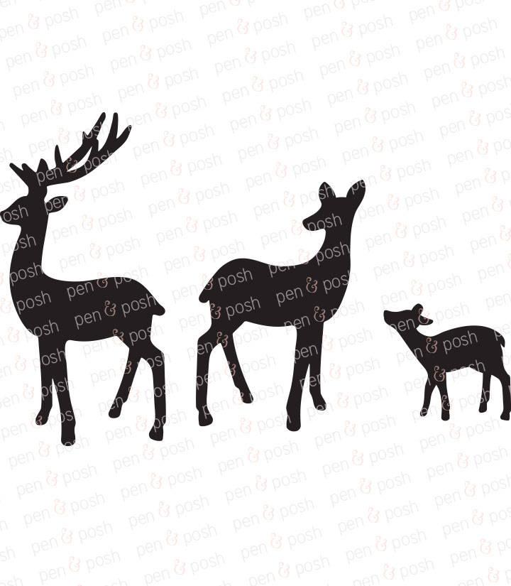 720x825 Deer Svg