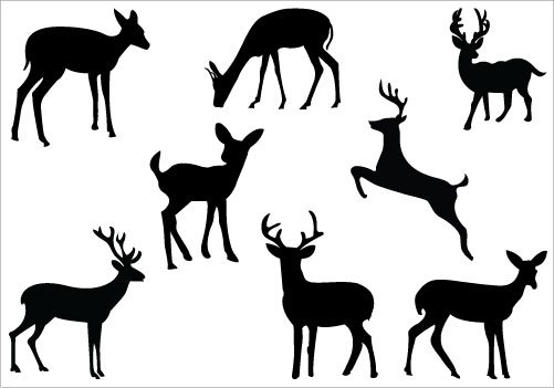 501x351 Deer Silhouette Clip Art Pack Clipart Panda