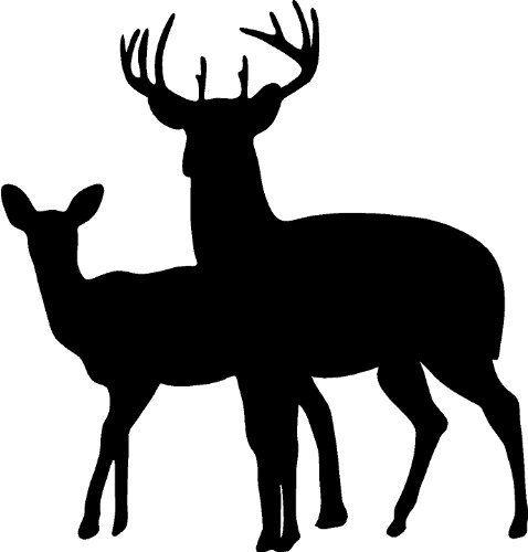 478x500 Buck Deer Family Doe Hunting Vinyl Wall Decal Home Decor 20 X 19