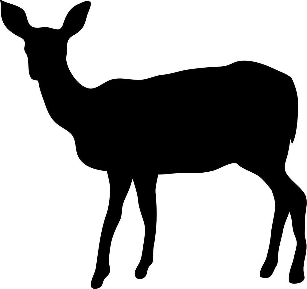 1000x941 Deer Doe Silhouette