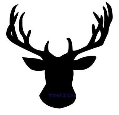 398x385 Deer Head Silhouette Svg File From Misstatestreasures On Etsy Studio