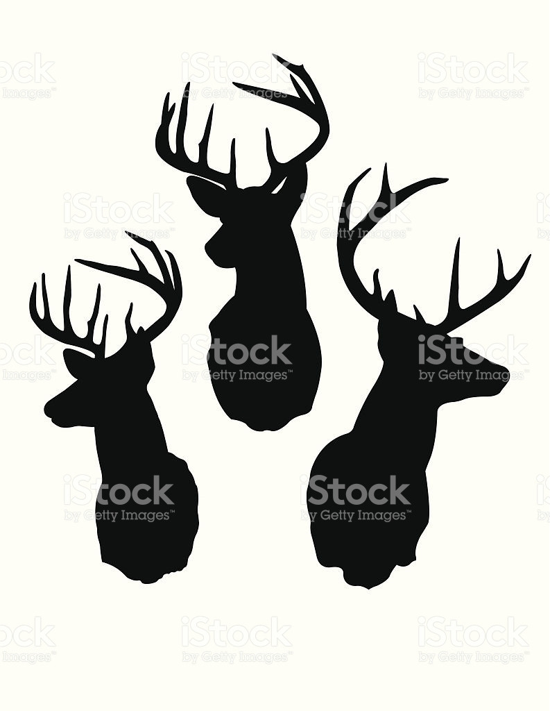 793x1024 Deer Head Silhouettes Stock Vector Art More Images Of Animal Fine