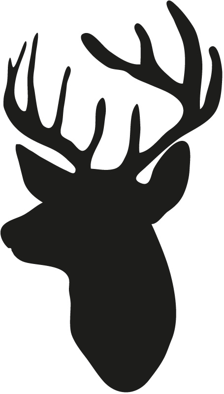 455x800 Animal Art Wall Mural Deer Head Silhouette Design Vinyl Wall
