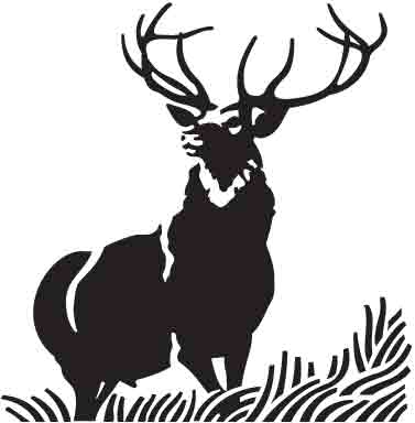 377x384 Items Similar To Deer Head Silhouette Print