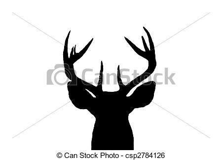 450x324 Whitetail Deer Buck Silhouette. A Silhouette Of A Male White