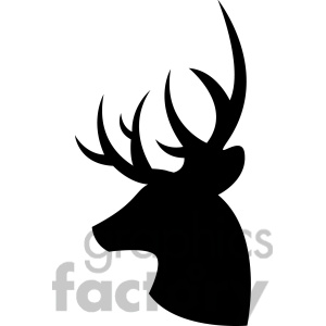 300x300 Buck Silhouette Clip Art Buck Clipart 1451885 Side Silhouette Buck