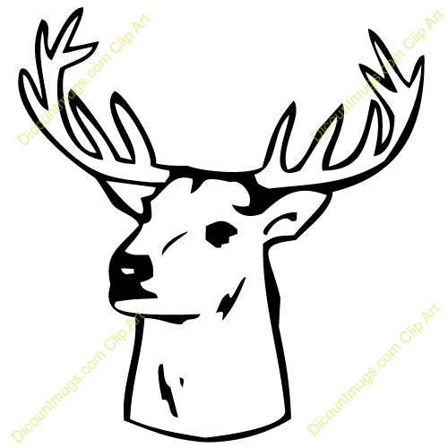500x500 Clipart Deer Head In Wall Collection