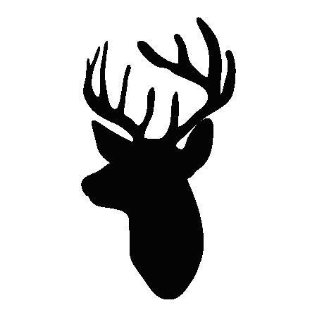 450x450 Deer Head Silhouette Ii Wall Wall Art Decal